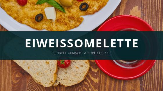 Eiweiß Omelette mit Kräutern und Pilzen