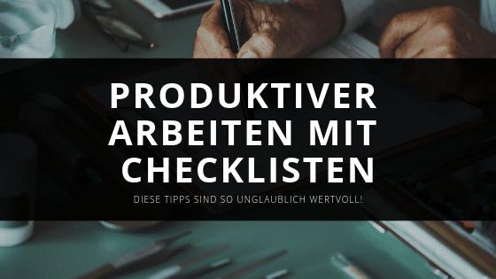Erfolgreich mit Checklisten
