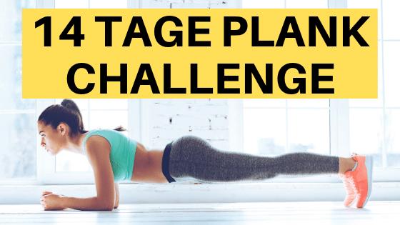 21 Tage Plank Challenge zum Abnehmen