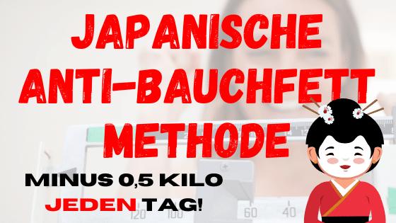 Japanische Methode verbrennt 0,5 Kilo Bauchfett pro Tag!