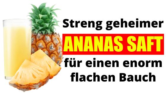 Flacher Bauch durch dieses Ananas Wasser