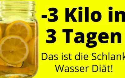 SOS-Wasser Diät – Verliere 3 Kilo in nur 3 Tagen